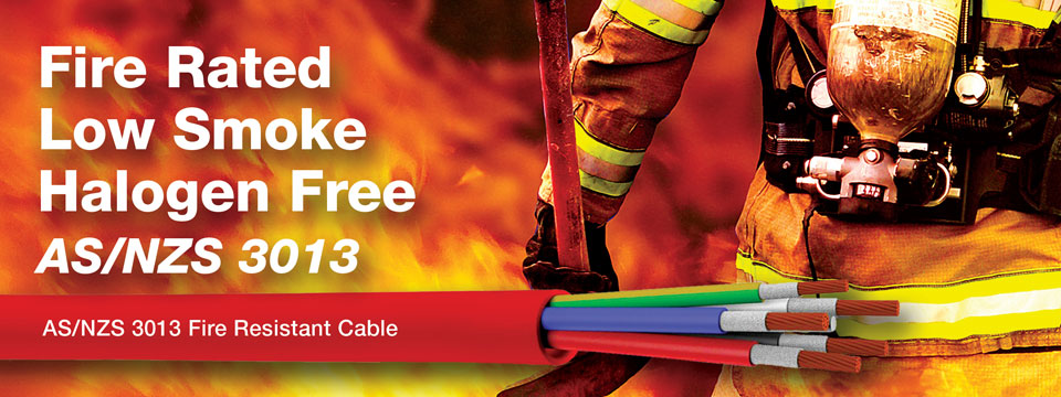 Fire Rated Cable AS/NZS 3013 Banner