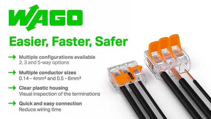 WAGO 221 Quick Connectors - The smarter choice Terminal Block