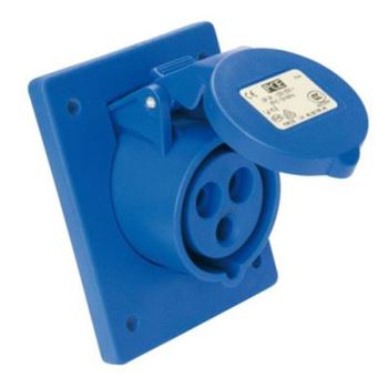 Picture for category CEE Flanged Socket - Sloping