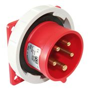 Picture of CEE Flanged Plug Straight 16A 5p IP67