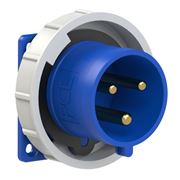 Picture of CEE Flanged Plug Straight 32A 3p IP67