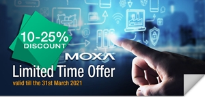10-25% Off MOXA Connectivity
